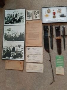 V42 Stiletto Fighting Knife USS Omaha Assault Landing Party & Artifacts included
