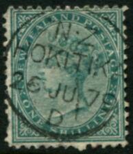 NEW ZEALAND - 1878 QV 1/- 'GREEN' GU SG184 Cv £50 [B1443]