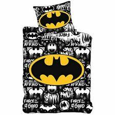 DC Batman Kinder Bettwäsche Set 135x200 80x80 Baumwolle Schwarz Bettwaren NEU