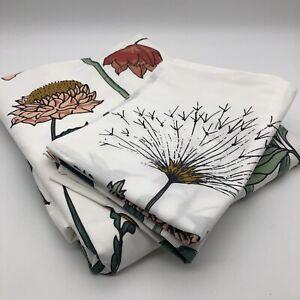 New Eden Garden 100% Cotton Percale Double Duvet Cover Set Floral Flowers