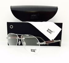 New Mont Blanc Eyeglasses 446 008 Silver 58•12•140 With Original Case