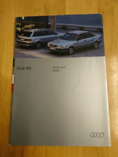 1994 Audi 80 Saloon and Estate Brochure