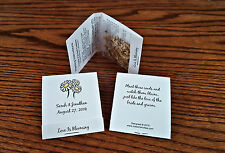 50 Personalized Wedding Daisy Wildflower Seed Packet Favors Matchbook Style