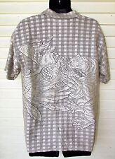 Trust Couture Disco Fishnet Shiny Tan Mesh Rockabilly Eagle Tiger S/S Shirt Men