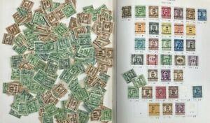 UNITED STATES BUREAU PRECANCEL COILS 1939 ALBUM & PAGES WHOLESALE LOT (3000) +