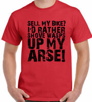 CYCLING T-Shirt Sell My Bike? Mens Funny Road Mountain BMX Tour Cycle Racer