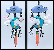 Boucles d oreilles BIJOUX LOL Histoire de lapin Lune bleu etoile Lolilota