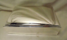 "Pottery Barn Large Silver-Plated Jewelry Box Monogrammed ""Abbigail"""