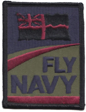 'Fly Navy' Royal Navy RN Fleet Air Arm FAA Logo Subdued MOD Embroidered Patch