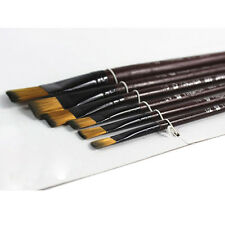 6X Artista Pincel Nylon Cabello Acrílico Acrílico Pintura al óleo Suministros#