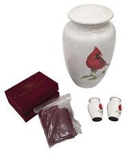 Large Hand Made Cardinal Cremation Urn