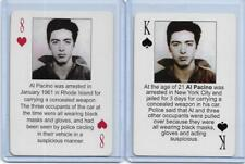 BOTH 2003 STARZ BEHIND BARZ ~ AL PACINO PLAYING CARDS LOT ~ MUG SHOT ~ SERPICO