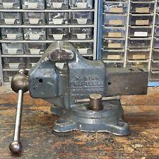 Vintage Original Craftsman Gray 3 Cast Iron Bench Vise 5184 Swivel Base