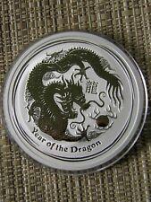2 oz SILVER  YEAR OF THE DRAGON BULLION COIN 2012