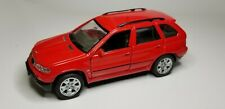 """WELLY BMW X5 4.4i #9752 - Pull-Back Red Die-Cast Collector 4 1/2"""" Car real rider"""