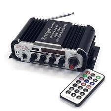 HY-600 12V 2 Channels HIFI Power Amplifier USB SD DVD MP3 Digital Player-Black