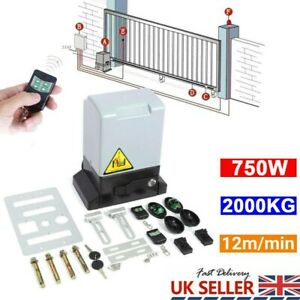 2000KG 750W Sliding Electric Gate Opener Automatic Motor Driveway Security Kit