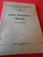 Great Collectible Book-U.S.Dept. of Commerce CIVIL AERONATICS Pilot Manuel