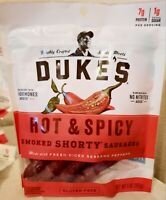 Duke's Hot & Spicy Smoked Shorty Sausages, Keto Friendly, 5 oz, Pack of 8