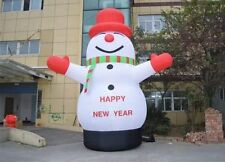 Lovely Giant Outdoor Christmas Inflatable Snowman for Christmas Decoration 8M a