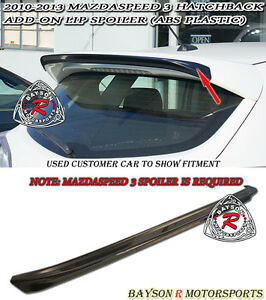 MS-Style Add-on Roof Spoiler Wing (ABS) Fits 10-13 Mazda 3 Hatch 5dr