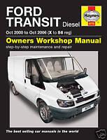 Haynes Ford Transit 2.0 2.4 Diesel inc. Tourneo 2000 - 2006 Manual 4775 NEW