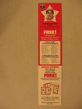 1978 Pepsi Uncut Strip Card With Ad Jim Palmer