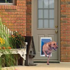 Aluminum Pet Door Telescoping Frame Dogs Cats Pets Durable Extra Large White