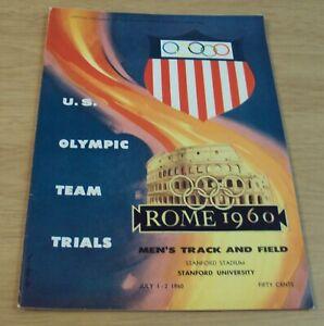 "VTG 1960 U.S. Team TRIALS Program~""ROME OLYMPICS"" Men's TRACK & FIELD~Stanford~"