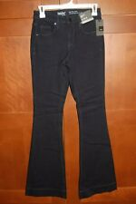 MOSSIMO Denim Jeans Dixie Blue Size 0/25R Women HIGH-RISE FLARE STRETCH NWT