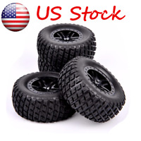 4pcs 12mm Hex 1/10 RC Short Course Truck Tires & Wheels For TRAXXAS SLASH HPI