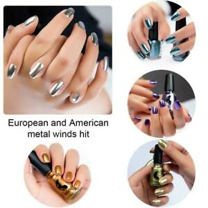 Metallic Nail Polish Mirror Effect Chrome Nail Hot Polish Varnish Art H2A9