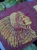 Vintage Indian Chief head pennant Blair Nebraska circa 1930's / 17 inches