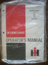 Ih Farmall Mccormick International 244 254 Owners Manual New Old Stock