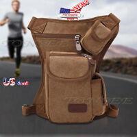 Fashion US Men's Military Canvas Leather Satchel School Shoulder Messenger Bag