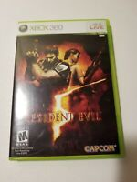 Resident Evil 5 (Microsoft Xbox 360, 2009) - Complete with Manual TESTED Game