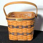 Longaberger Collector's Club J W Miniature Two-Pie Basket