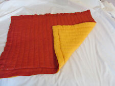 Pottery Barn Pillow Sham Orange/Red Pickstitch Standard Zipper Closure