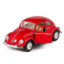 "Kinsmart 1967 Volkswagen VW Classical Beetle 1:32 scale 5"" diecast RED"