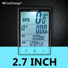 LCD Digital Wireless Bike Computer Cycle Bicycle Speedometer Odometer Waterproof