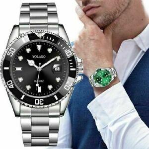 New Luxury Fashion Men Stainless Steel Strap Quartz Classic Wrist Watch