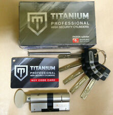 Hi Security Door Cylinder TITANIUM 66mm CAM ThumbTurn Euro Home Lock Magnum brnd