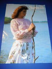 SUNBEAM Puro Nuova Lana DK Donna lacy sweater Knitting Pattern 1200
