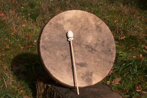 Schamanen Trommel 44cm Damhirschfell mit Hörprobe - Shaman Drum Fallow Deer hide