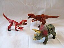 3 X Hasbro Jurassic Park Dinosaurs Figure Bundle Joblot Collection T-Rex