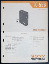Sony TC-55B Original Cassette-Corder Manuel de Service / Diagram o132