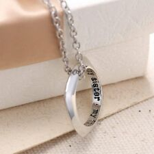 """THE ONE RING Lord of the Rule Charm """"My Sister My Friend"""" Pendant Necklace Chain"""