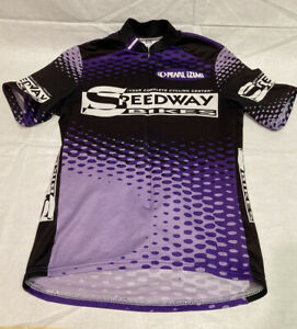Pearl Izumi Mens Short Sleeve 3/4 Zip Speedway Bikes Jersey Small