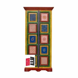 Pandora Hand Painted Indian Color Wardrobe Cabinet (MADE TO ORDER)