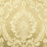"Damask Jacquard  color Champagne, 56"" wide Fabric sold by yard"